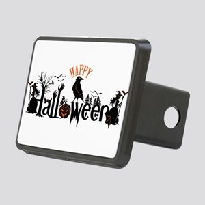 Happy halloween Black & or Rectangular Hitch Cover