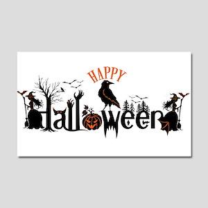 Happy halloween Black & orange Car Magnet 20 x 12