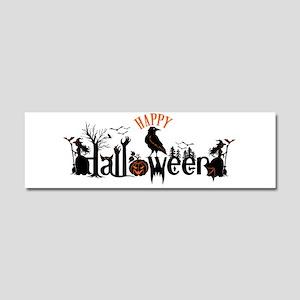 Happy halloween Black & orange S Car Magnet 10 x 3