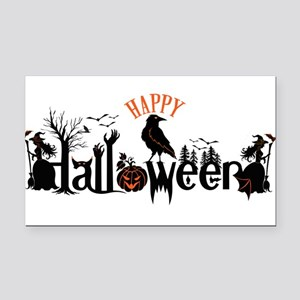 Happy halloween Black & orang Rectangle Car Magnet