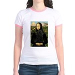 Mona Lisa /Puli Jr. Ringer T-Shirt