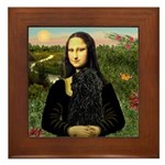 Mona Lisa /Puli Framed Tile