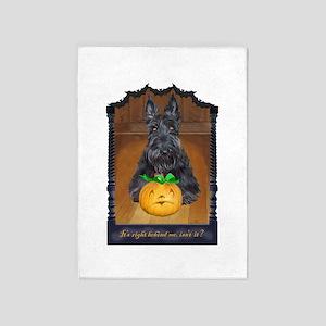 Scottish Terrier Halloween 5'x7'Area Rug