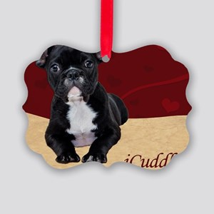 Adorable iCuddle French Bulldog P Picture Ornament