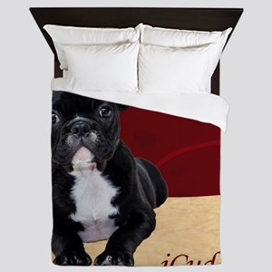 Adorable iCuddle French Bulldog Puppy Queen Duvet