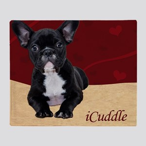 Adorable iCuddle French Bulldog Pupp Throw Blanket