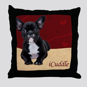 Adorable iCuddle French Bulldog Puppy Throw Pillow