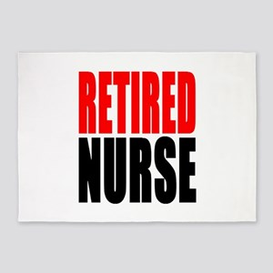 Retired Nurse 5'x7'Area Rug