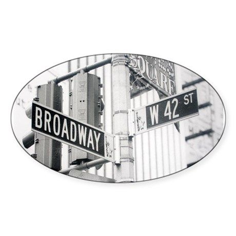 NY Broadway Times Square - Sticker (Oval)