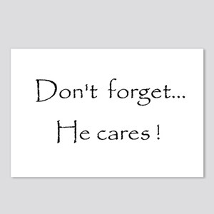 Don't forget...He cares! Postcards (Package of 8)
