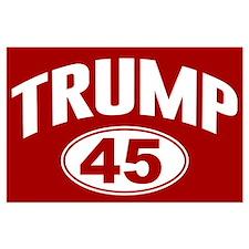 Trump 45th President Collegiate Large Poster