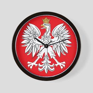 square polish eagle Wall Clock