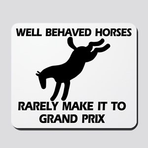 Well Behaved Horses Mousepad
