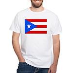 Puerto Rico Flag Men's White T-Shirt