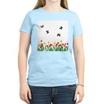 Tulip Flowers and Butterflies Women's Light T-Shir