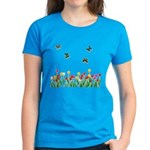 Tulip Flowers and Butterflies Women's Dark T-Shirt