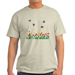Tulip Flowers and Butterflies Light T-Shirt