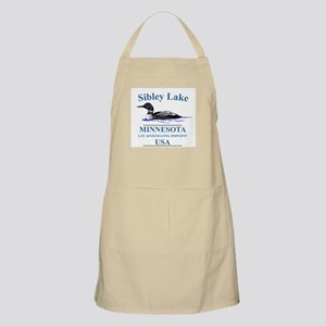Loon with Lat. & Long BBQ Apron