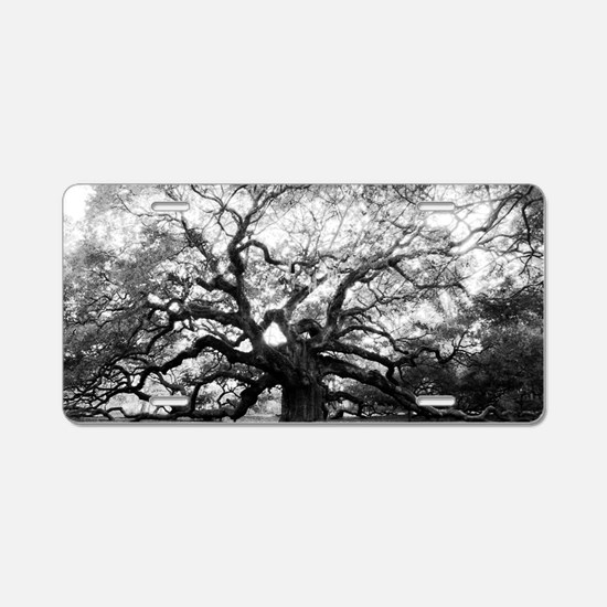Unique Trees Aluminum License Plate