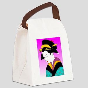 Geisha_Japan Canvas Lunch Bag