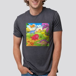 Cute Dinosaurs Mens Tri-blend T-Shirt