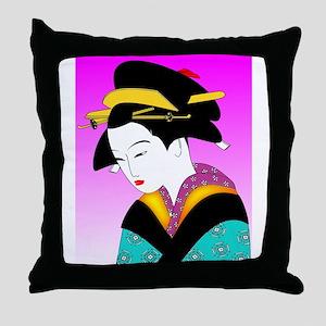 Geisha_Japan Throw Pillow