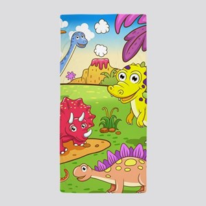 Cute Dinosaurs Beach Towel