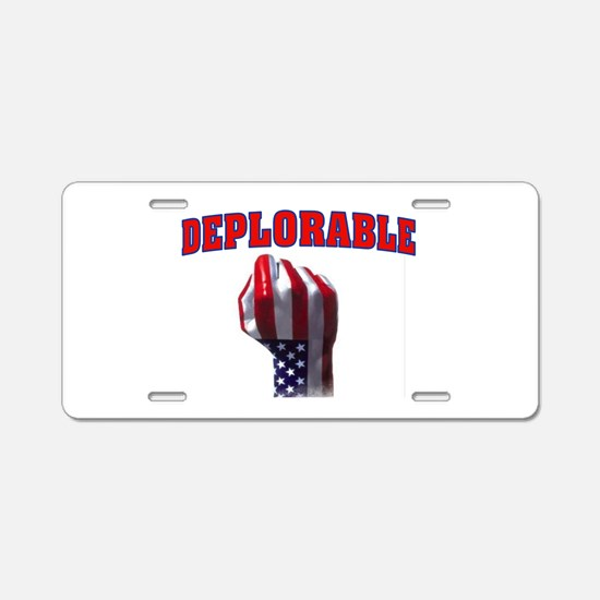 Deplorable Aluminum License Plate