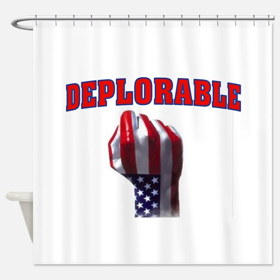 DEPLORABLE Shower Curtain