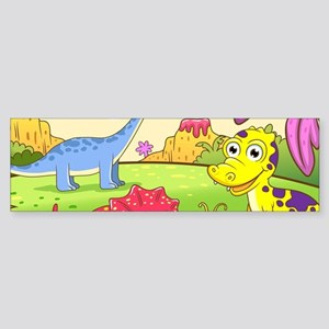 Cute Dinosaurs Sticker (Bumper)