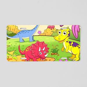 Cute Dinosaurs Aluminum License Plate