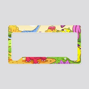 Cute Dinosaurs License Plate Holder