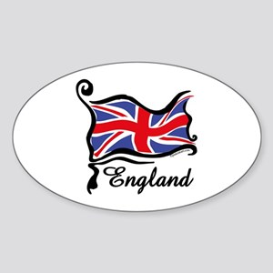 Funky British Flag Oval Sticker