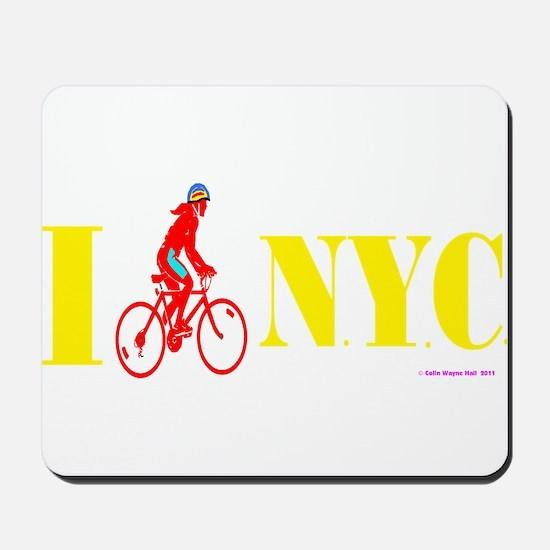 I Bike NYC RED transp.png Mousepad