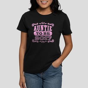 Auntie To Be 2017 Women's Dark T-Shirt