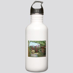 Jerk_Chicken_Stand_Neg Stainless Water Bottle 1.0L