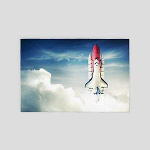 Space Shuttle Launch 4' x 6' Rug