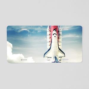 Space Shuttle Launch Aluminum License Plate