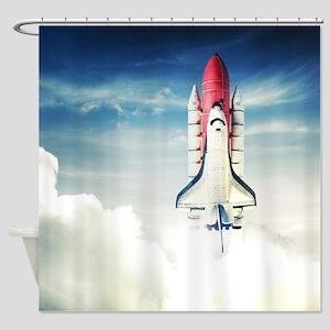 Space Shuttle Launch Shower Curtain