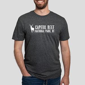 Deer: Capitol Reef, Utah Mens Tri-blend T-Shirt