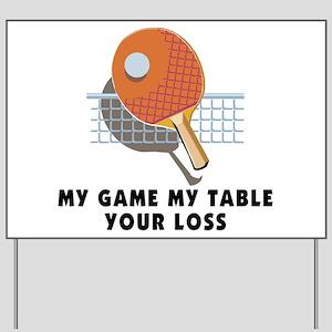 Table Tennis Yard Sign