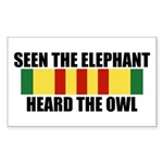 SEEN THE ELEPHANT, HEARD THE OWL Sticker