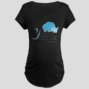 Blue Psalms 139:13 Maternity T-Shirt