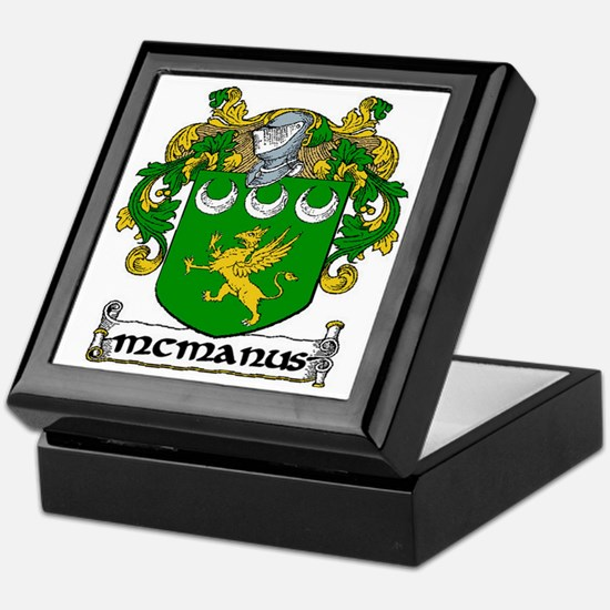 McManus Coat of Arms Keepsake Box