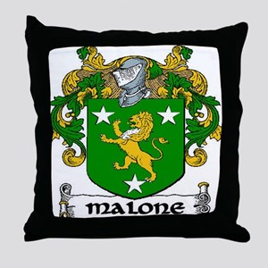 Malone Coat of Arms Throw Pillow