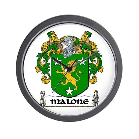 Malone Coat of Arms Wall Clock