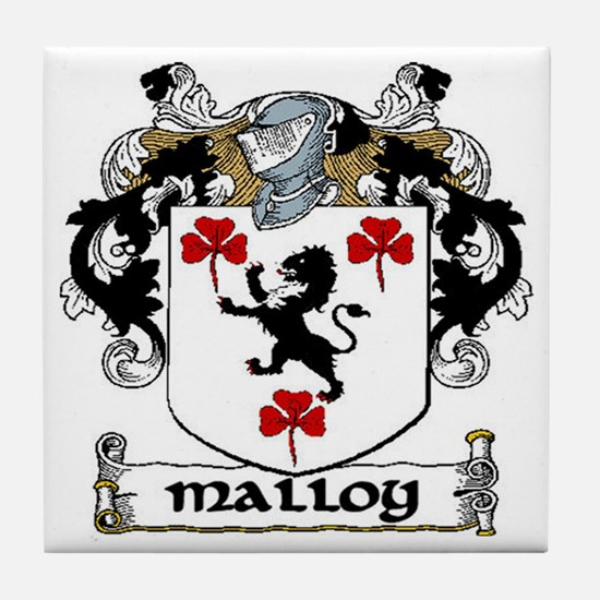 Malloy Coat of Arms Ceramic Tile