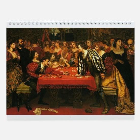 Card Player Art Wall Calendar
