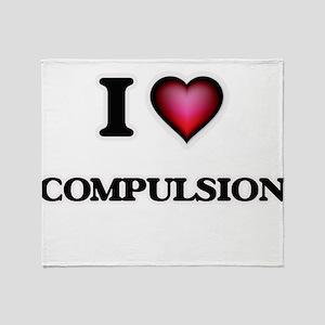 I love Compulsion Throw Blanket