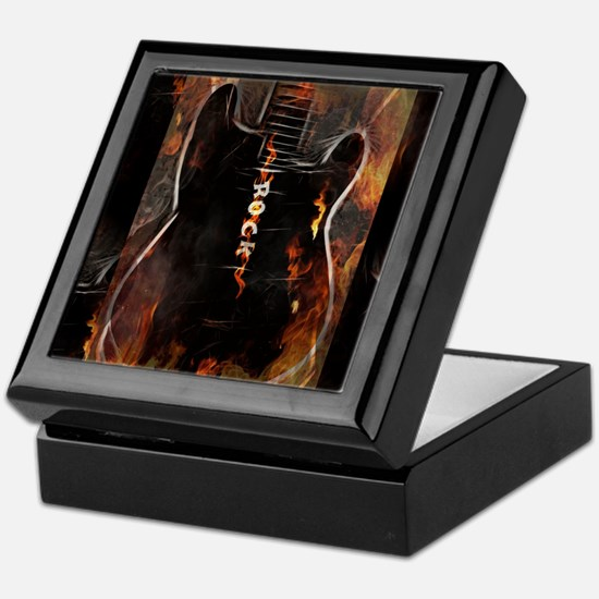 Rock Guitar Keepsake Box